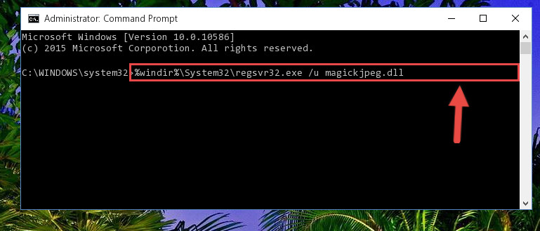 Uninstalling the Magickjpeg.dll library from the system registry