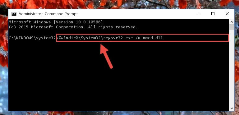 Uninstalling the Mmcd.dll file from the system registry