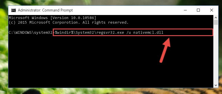 Uninstalling the Nativemcl.dll file from the system registry