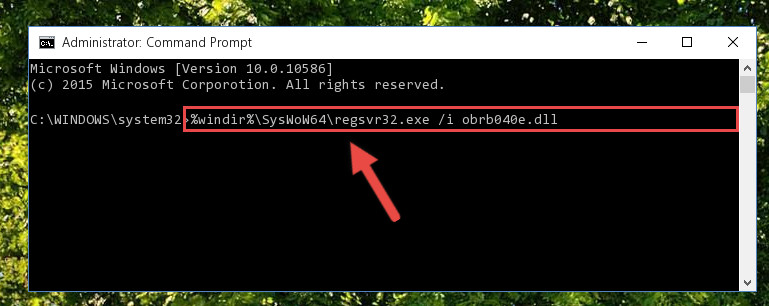 Creating a clean and good registry for the Obrb040e.dll file (64 Bit için)