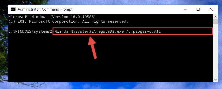 Deleting the P2pgasvc.dll library's problematic registry in the Windows Registry Editor