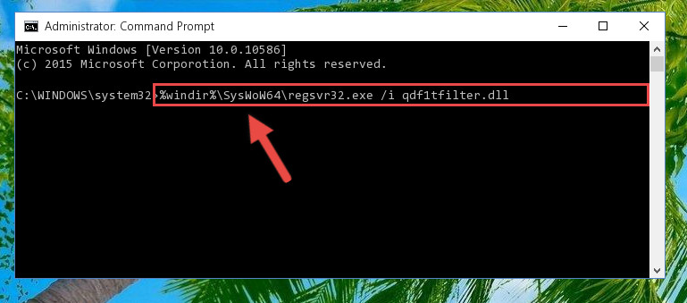 Creating a clean and good registry for the Qdf1tfilter.dll file (64 Bit için)