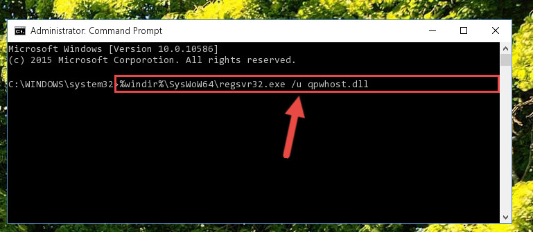 Uninstalling the Qpwhost.dll library's broken registry from the Registry Editor (for 64 Bit)