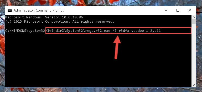 Creating a new registry for the R3dfx voodoo 1-2.dll library