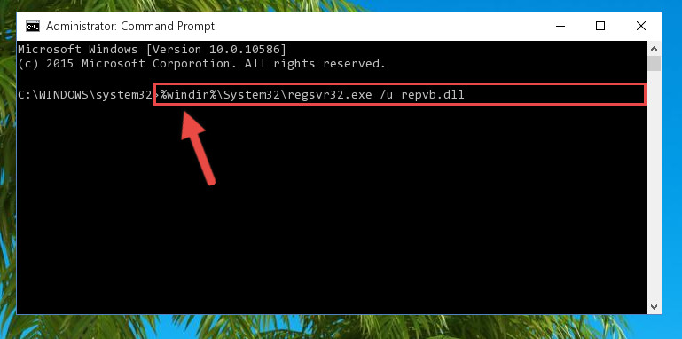 Cleaning the problematic registry of the Repvb.dll file from the Windows Registry Editor