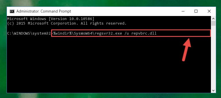 Uninstalling the Repvbrc.dll library's broken registry from the Registry Editor (for 64 Bit)