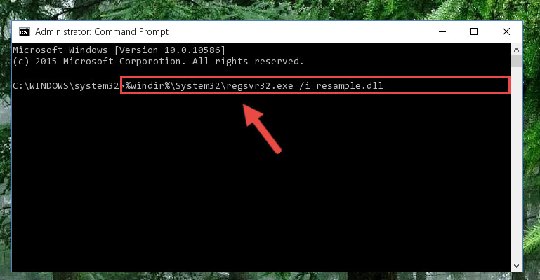 Creating a new registry for the Resample.dll file in the Windows Registry Editor