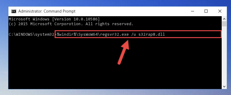 Uninstalling the S32rap8.dll file's problematic registry from Regedit (for 64 Bit)