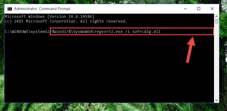 Creating a clean registry for the Safrcdlg.dll file (for 64 Bit)