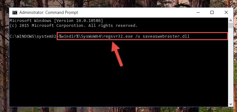 Uninstalling the Saveaswebraster.dll library's problematic registry from Regedit (for 64 Bit)