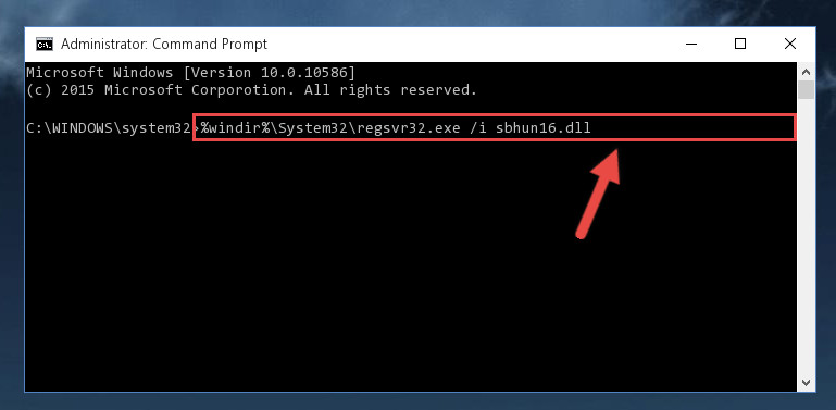 Making a clean registry for the Sbhun16.dll library in Regedit (Windows Registry Editor)