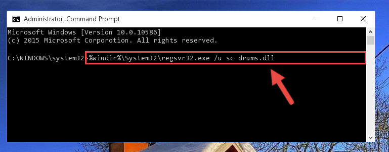 Deleting the damaged registry of the Sc drums.dll