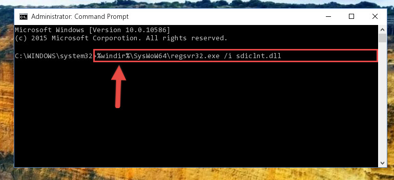 Creating a clean registry for the Sdiclnt.dll file (for 64 Bit)