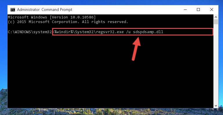 Deleting the damaged registry of the Sdspdsamp.dll