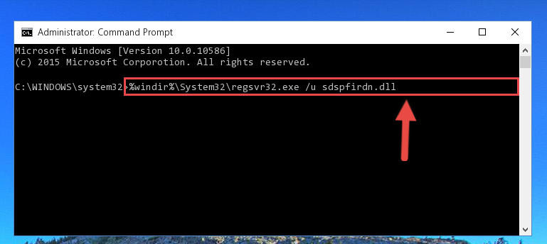 Cleaning the problematic registry of the Sdspfirdn.dll file from the Windows Registry Editor