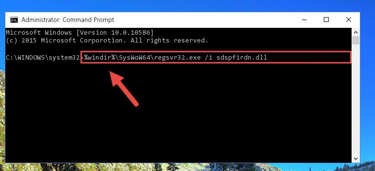 Creating a clean registry for the Sdspfirdn.dll file (for 64 Bit)