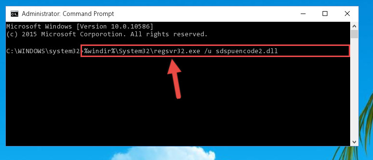 Deleting the damaged registry of the Sdspuencode2.dll
