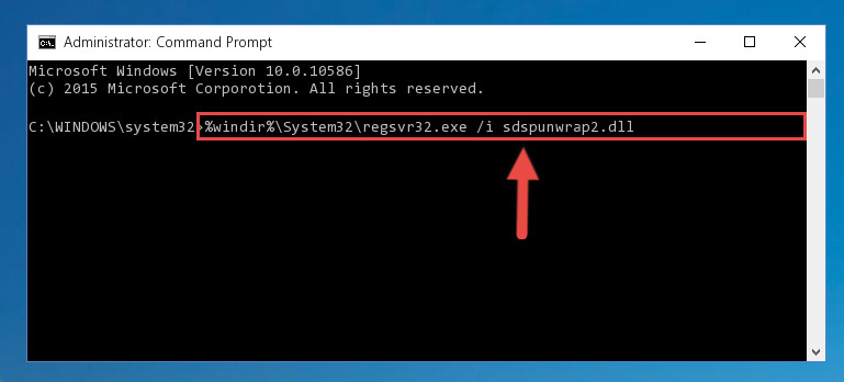 Creating a new registry for the Sdspunwrap2.dll library in the Windows Registry Editor
