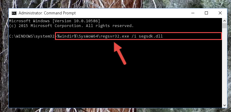 Creating a clean registry for the Segsdk.dll file (for 64 Bit)