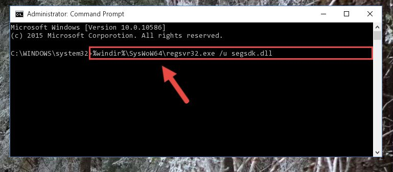 Uninstalling the Segsdk.dll file's problematic registry from Regedit (for 64 Bit)