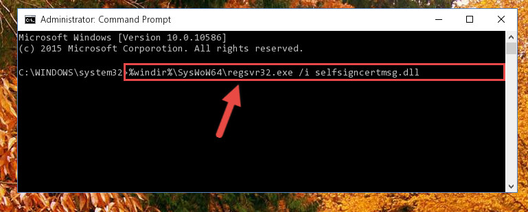 Creating a clean registry for the Selfsigncertmsg.dll library (for 64 Bit)