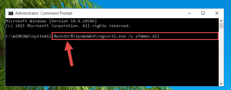 Uninstalling the broken registry of the Sfmmon.dll library from the Windows Registry Editor (for 64 Bit)