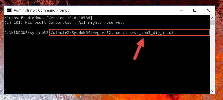 Creating a clean registry for the Sfun_tpu3_dig_in.dll library (for 64 Bit)