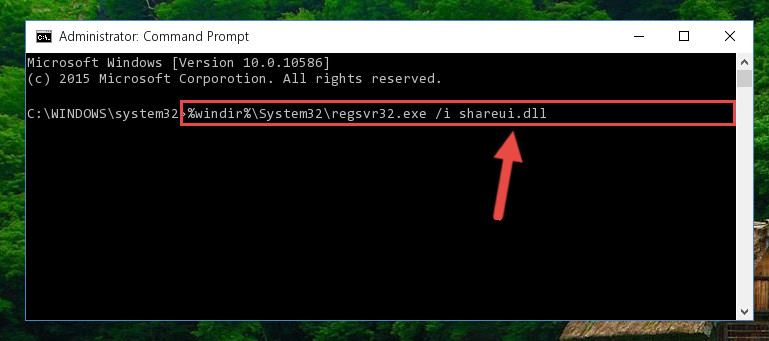 Making a clean registry for the Shareui.dll library in Regedit (Windows Registry Editor)