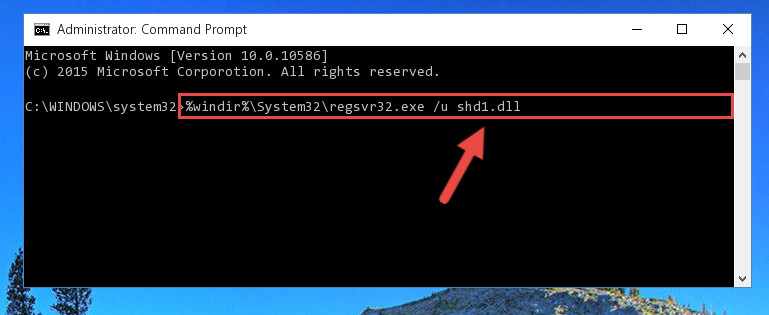 Cleaning the problematic registry of the Shd1.dll file from the Windows Registry Editor