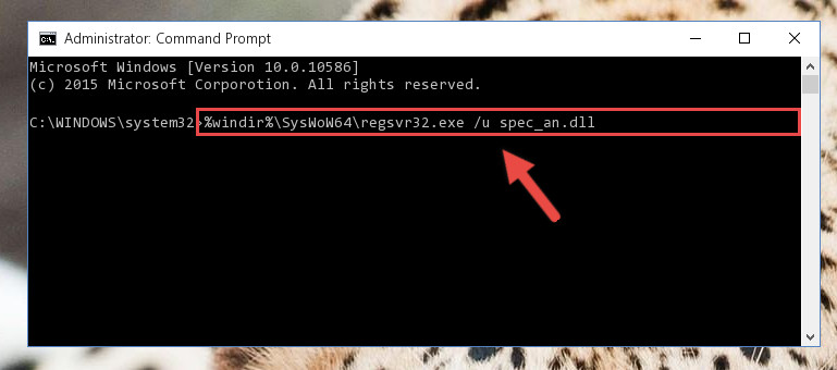 Uninstalling the Spec_an.dll library's broken registry from the Registry Editor (for 64 Bit)