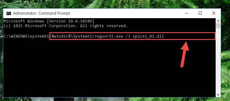 Creating a new registry for the Spice1_01.dll library
