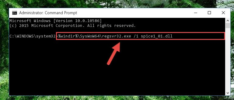 Reregistering the Spice1_01.dll library in the system (for 64 Bit)