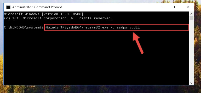 Uninstalling the Ssdpsrv.dll file's broken registry from the Registry Editor (for 64 Bit)