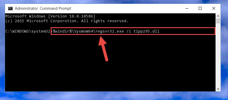 Creating a clean registry for the Tipp295.dll library (for 64 Bit)