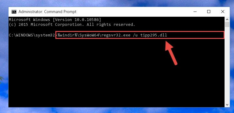 Uninstalling the broken registry of the Tipp295.dll library from the Windows Registry Editor (for 64 Bit)