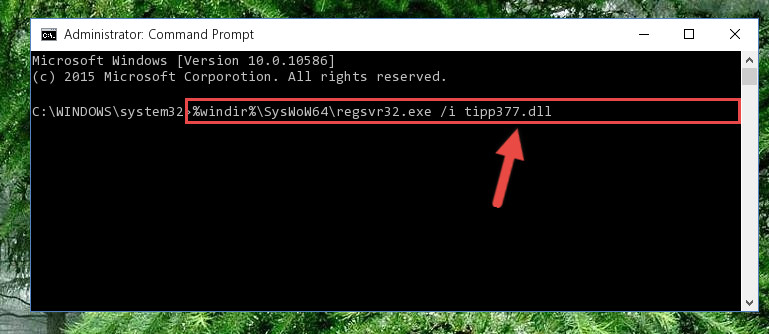 Creating a clean registry for the Tipp377.dll file (for 64 Bit)