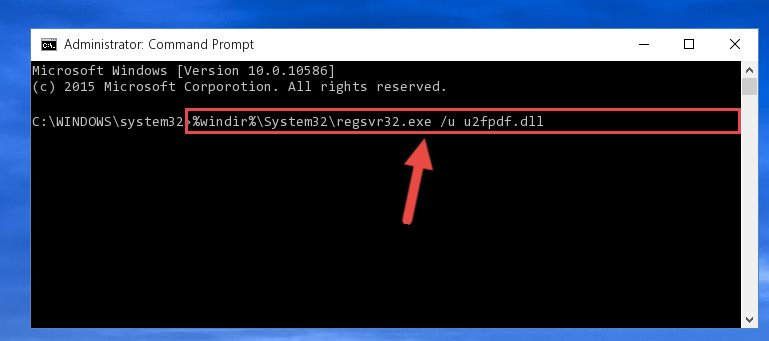 Deleting the U2fpdf.dll file's problematic registry in the Windows Registry Editor