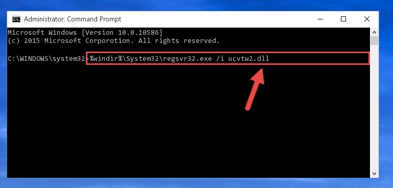 Creating a new registry for the Ucvtw2.dll file in the Windows Registry Editor