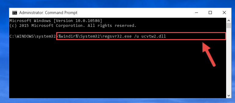 Deleting the Ucvtw2.dll file's problematic registry in the Windows Registry Editor