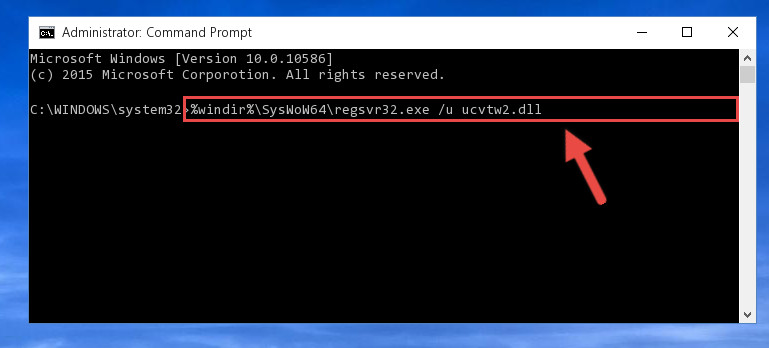 Uninstalling the Ucvtw2.dll file's problematic registry from Regedit <em>(for 64 Bit)</em>