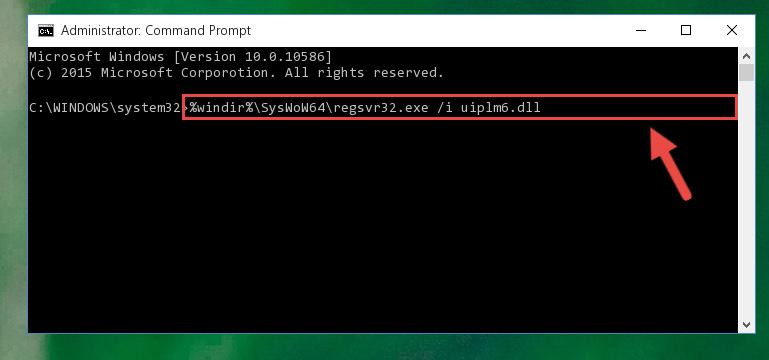 Creating a clean registry for the Uiplm6.dll file (for 64 Bit)