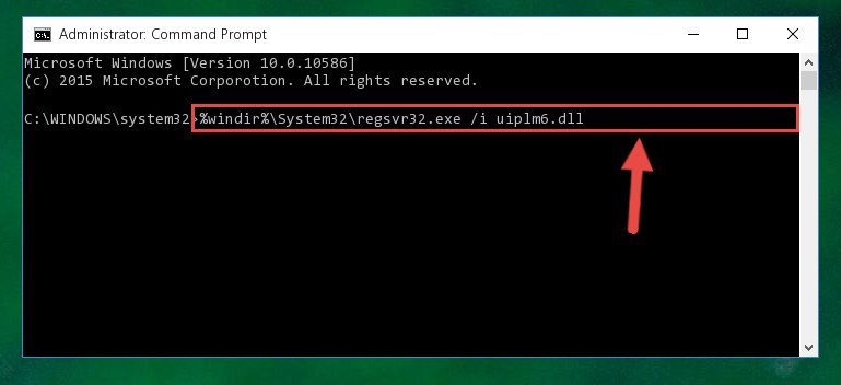 Creating a new registry for the Uiplm6.dll file