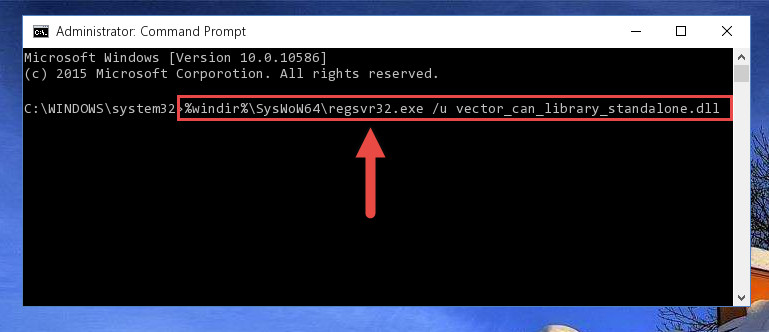 Uninstalling the damaged Vector_can_library_standalone.dll library's registry from the system (for 64 Bit)