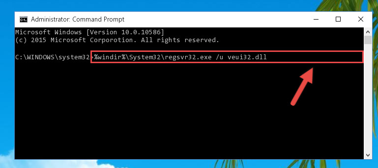 Deleting the damaged registry of the Veui32.dll