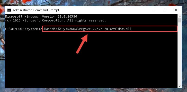 Uninstalling the broken registry of the Wt9ldst.dll library from the Windows Registry Editor (for 64 Bit)