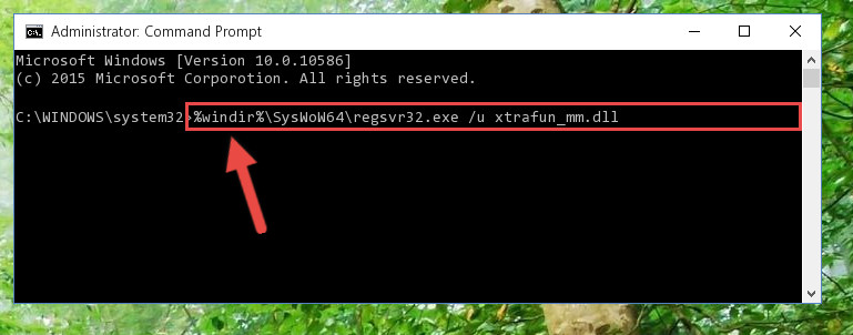 Uninstalling the Xtrafun_mm.dll file's problematic registry from Regedit (for 64 Bit)