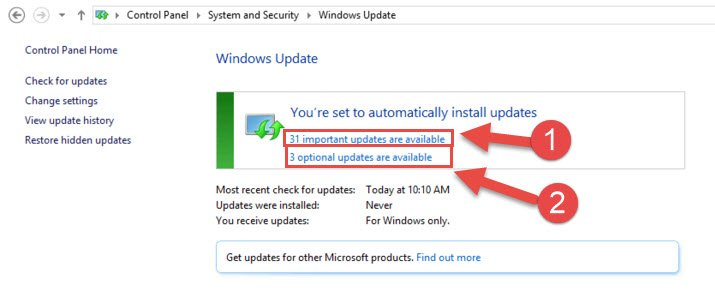 Step 4: Installable update packs were found for Windows 8.1 / 8