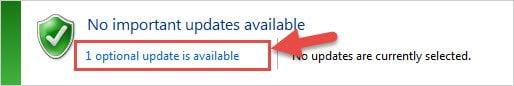 Step 5: Viewing optional Windows 7 and Windows Vista update packs